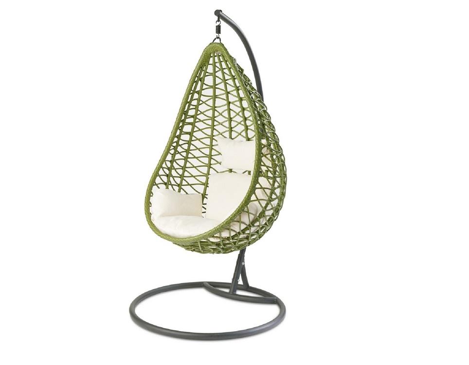 """""""Подвесное плетеное кресло """"Aura green"""" -картинка"""""""