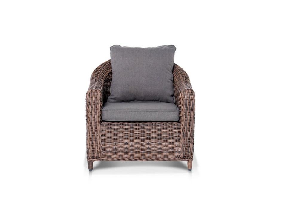 """""""Плетеное кресло """"Кон Панна"""", цвет темно-коричневый-картинка"""""""