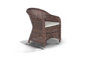 """""""Плетеное кресло """"Равенна"""", цвет темно-коричневый-картинка"""""""