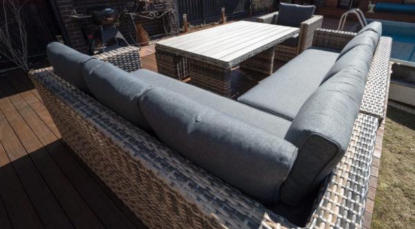 Обеденный комплект плетеной мебели из искусственного ротанга «Сан-Ремо».