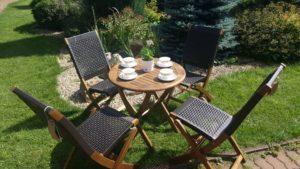 Садовая мебель из искусственного ротанга и акации Ever ton brown