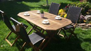 Плетеная мебель деревянная «Ever ton brown» 4 персоны