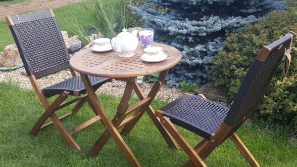 Плетеная мебель деревянная «Ever ton brown» 2 персоны