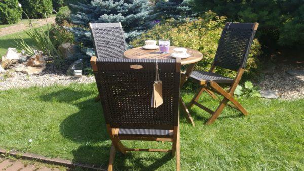 Комплект садовой мебели на 3 персоны Ever ton brown