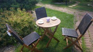 Садовая мебель из акации и искусственного ротанга Ever ton brown