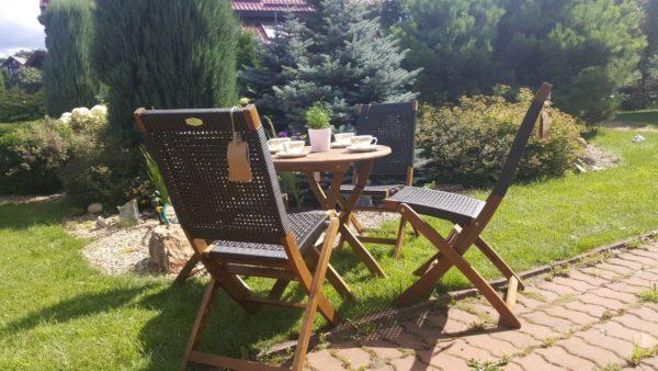 Садовая мебель из акации и искусственного ротанга «Ever ton brown».