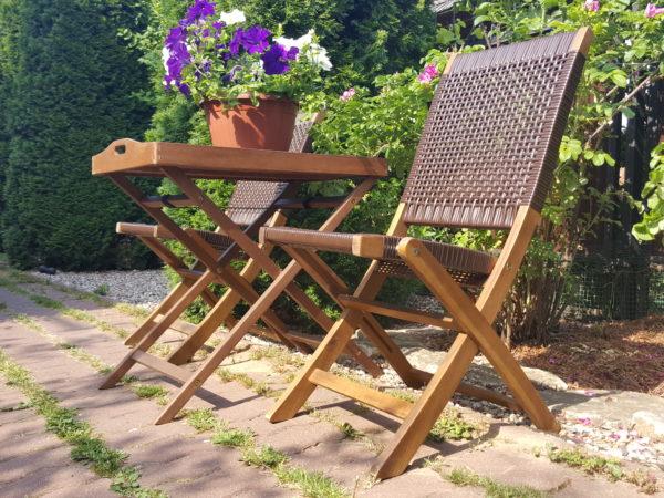 Плетеная мебель деревянная «Ever ton brown» tea set
