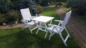 Садовая мебель из акации и искусственного ротанга «Arizona Dream» blue Cofe Set