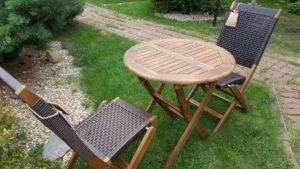 Садовая мебель из искусственного ротанга и массива акации Ever ton rustic