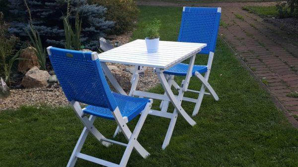 Садовая мебель из акации и искусственного ротанга «Arizona Dream» blue Cofe Set.