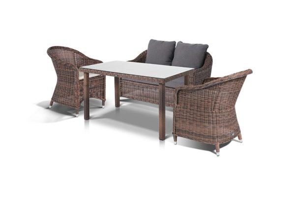 Комплект плетеной мебели «Кон Панна С», обеденная группа