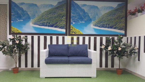 Плетеный диван из искусственного ротанга «Louisiana».