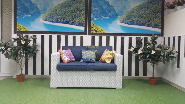 Плетеный диван из искусственного ротанга «Louisiana» .