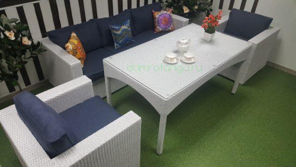 SunLineDesign. Плетеная мебель «Louisiana» dining lounge set