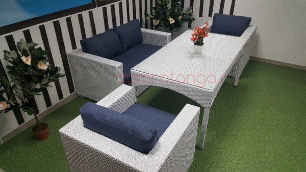 Плетеная мебель«Louisiana» 2 white&blue. SunLineDesign
