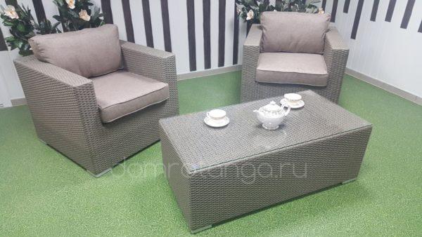 Плетеная мебель «Louisiana» cafe set. Sunlinedesign