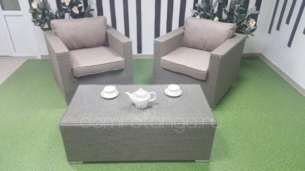 Плетеная мебель «Louisiana» cafe set mocco. Sunlinedesign