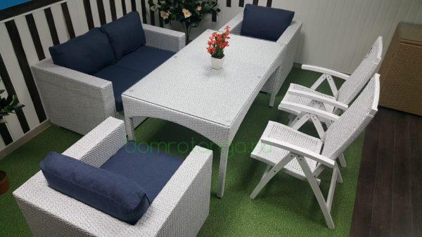 SunLineDesign. Плетеная мебель «Dream» white&blue