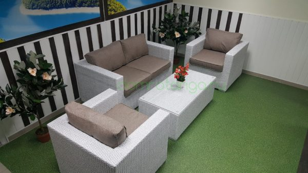 Плетеная мебель «Louisiana» lounge white&beige. SunLineDesign