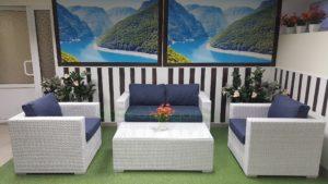 Плетеная мебель «Louisiana» lounge white&blue. Цена: 104870 руб.
