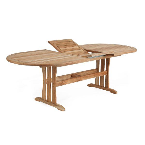 Melbourne стол из тика 190-240×100 см. Brafab