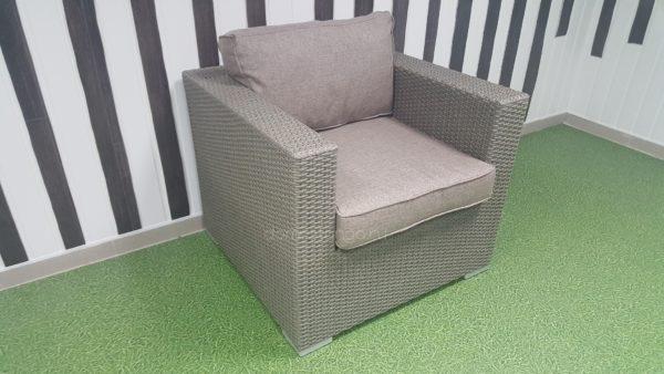 Кресло плетеное «Louisiana» mocco&beige. SunLineDesign