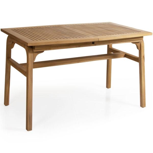 Раскладной обеденный стол Volos из массива тика производства фабрики Brafab, Швеция