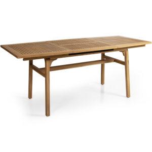 Раскладной обеденный стол Volos из массива тика. Brafab, Швеция