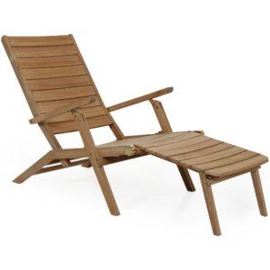 Шезлонг Chios, мебель из тика Brafab, Швеция.