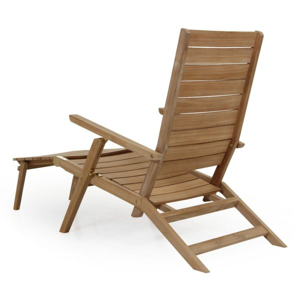 Шезлонг Chios, мебель из тика Brafab, Швеция. Арт. 2063.