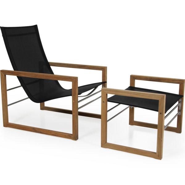 Brafab Vevi комплект мебели из натурального тика и текстилена