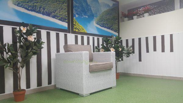 Плетеное кресло «Louisiana» white beige. SunLineDesign