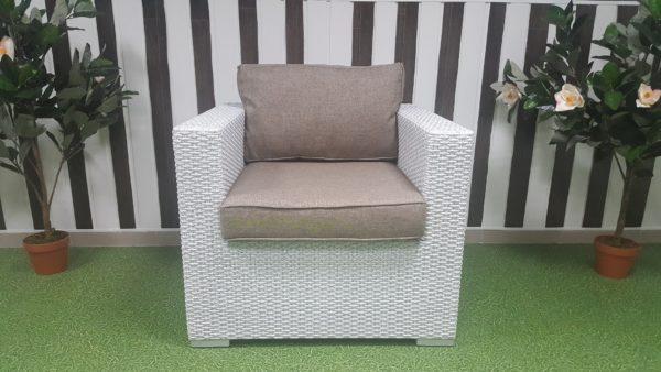 Кресло плетеное «Louisiana» white beige. SunLineDesign