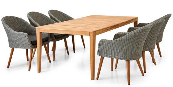 Agios обеденный стол 205x100 см и 6 кресле Alford