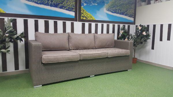 Плетеный диван из искусственного ротанга «Louisiana» mocco. SunLineDesign