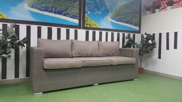 Плетеный диван «Louisiana» mocco. SunLineDesign