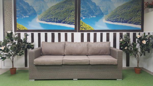 Плетеный диван «Louisiana» mocco 3-х местный
