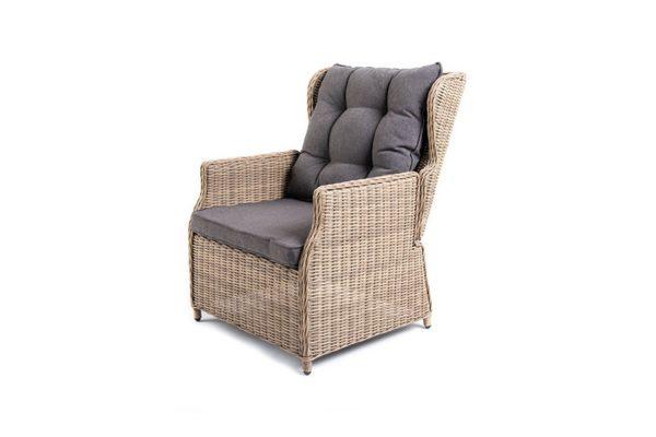 Раскладное кресло Форио из круглого искусственного ротанга