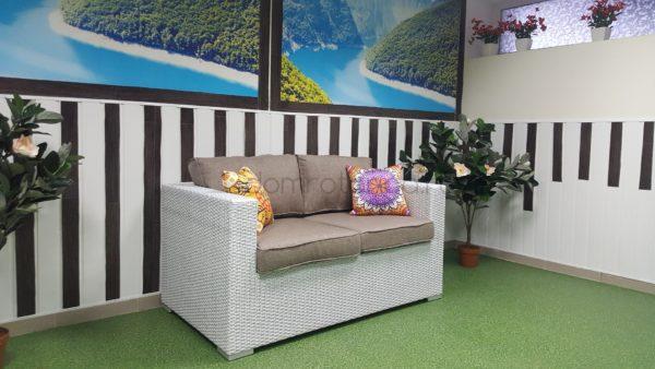 Диван Louisiana, плетеная мебель из искусственного ротанга, SunLineDesign