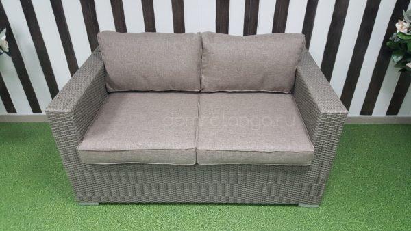 Плетеный диван из искусственного ротанга «Louisiana» mocco.