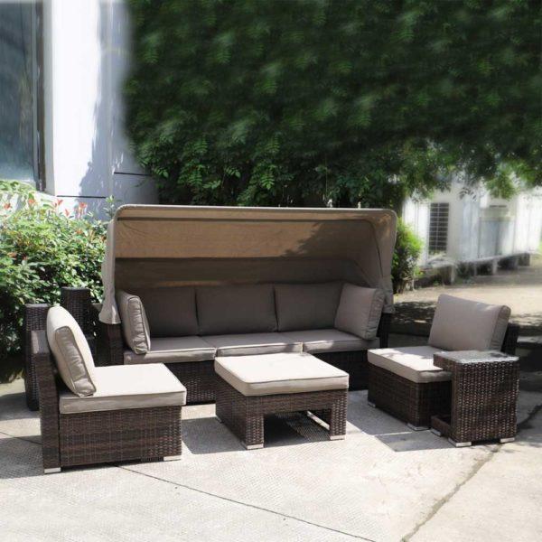Комплект мебели из искусственного ротанга AFM-320B Brown.