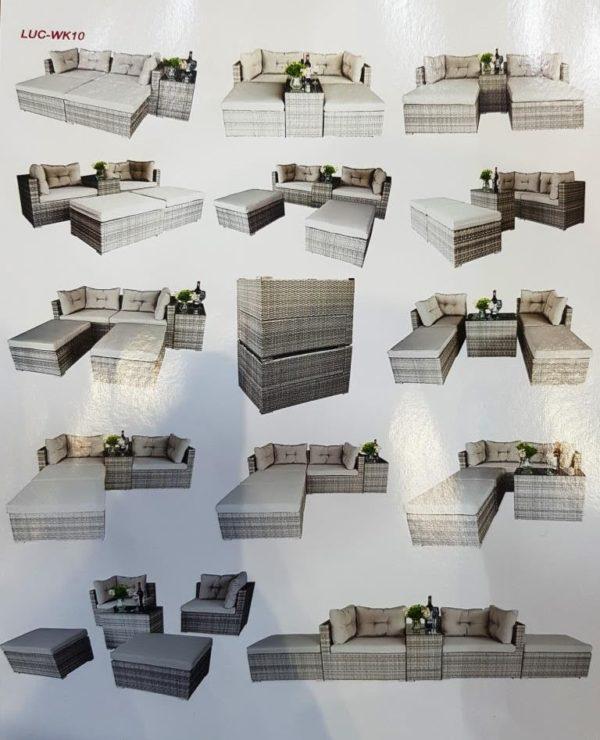 LUC-WK10 плетеная мебель