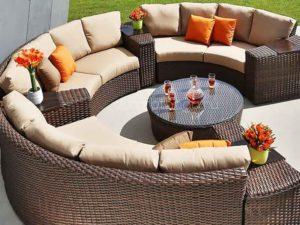 Плетеная мебель «Andromeda», модульный круглый диван