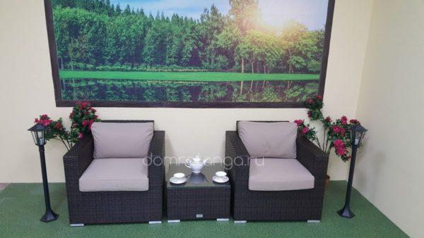 Комплект мебели из искусственного ротанга на две персоны Acoustic