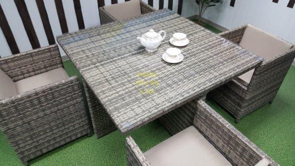 Фото-Barbados 120 плетеная мебель обеденная группа
