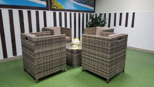 Фото-Barbados cafe 4 set мебель из искусственного ротанга