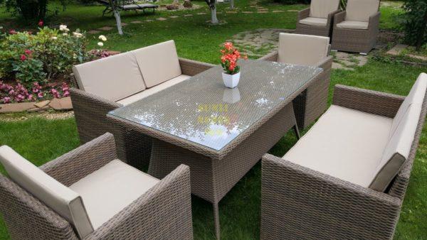Фото-Infinity & Samurai dining patio set мебель из искусственного ротанга