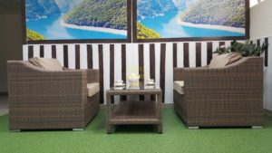 Фото-Комплект плетеной мебели Glendon royal beige