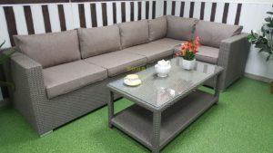 Фото-Комплект плетеной мебели Louisiana corner mocco 2