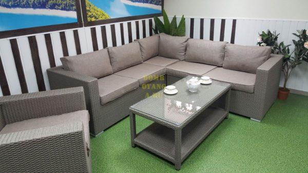 Фото-Комплект плетеной мебели Louisiana corner mocco set 2